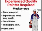 Experienced Quality Painter Required