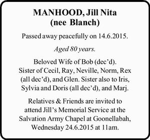 Passed away peacefully on 14.6.2015.
