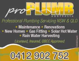 Professional Plumbing Servicing NSW & QLD 