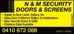 Repairs too:  Door Locks, Rollers, etc   Glass Door & Window Rollers & maintenance   New Security Doors & Grills   Stainless Steel Available   QBCC: 81825