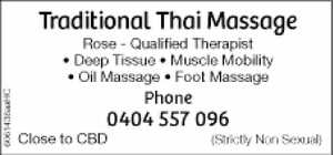 - Qualified Therapist Deep Tissue - Muscle Mobility - Oil Massage - Foot Massage Bold - Ph 0404 557 096  close to CBD RHS) (Strictly Non Sexual)