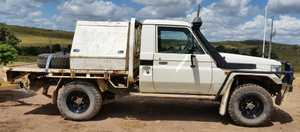 Tray back. 4.2 diesel, 240,000 kms, good condition, RWC and reg til Sept 15, $16,500 ono.