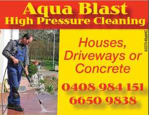 Aqua Blast High Pressure Cleaning