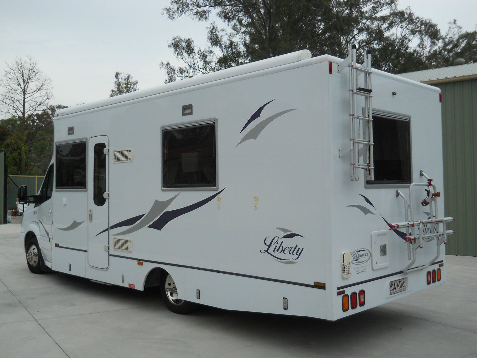 In perfect condition!!!!!Paradise RV Automatic,V6 Tiro diesel engine, 27  Foot long.Sleep 2 adults & one child,can be driven with car licence and has all Paradise extras and also has Slide out , Honda Genny . Solar panals . Washing Machine and TV/DVD.Priced for a quick sale due to ...