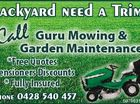 GURU MOWING & GARDEN MAINTENANCE