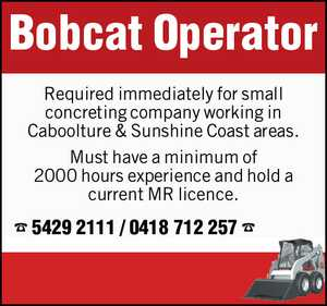 Bobcat Operator 