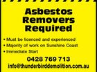 Asbestos Removers Required