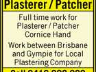 Plasterer / Patcher