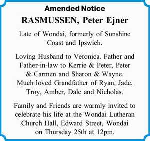 Amended Notice