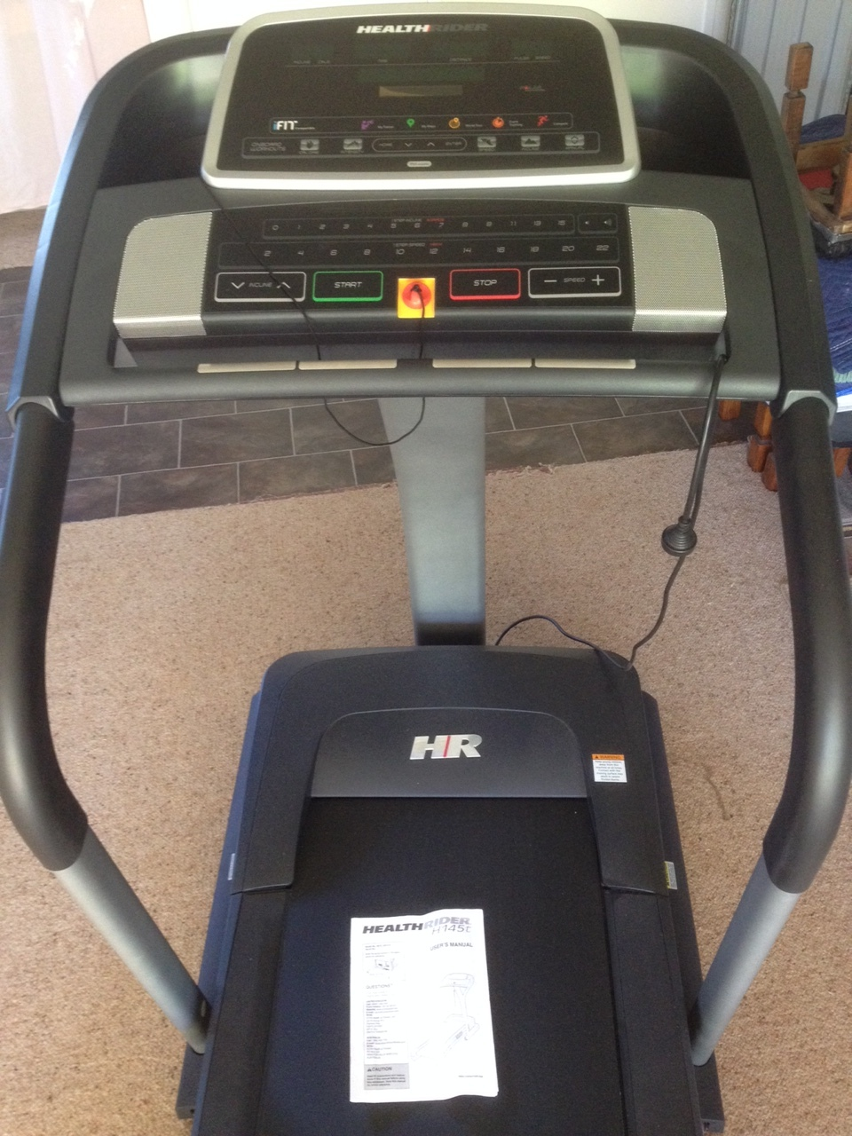 Healthrider H145T  Good quality treadmill.  As new condition, hardly used.  Purchased for $1400.   28 Pre-set Workout Programs - 7 high intensity workouts, 7 speed workouts, 7 incline workouts and 7 calorie based workouts provide plenty of variety for your workouts