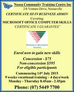 Noosa Community Training Centre Inc 