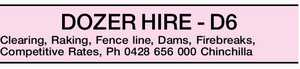 DOZER HIRE - D6 