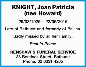 29/03/1925 – 22/06/2015