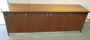 4 Door 2 Shelf Walnut 246x65cm Quality Item Must Go