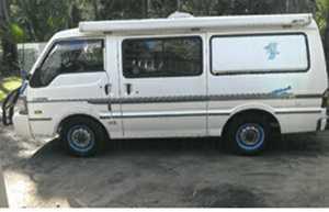 4 cyl petrol,  fridge/freezer,  2 single beds,  CB,  Awning,  Reg Oct,  RWC,  Good Condition.   $12,500 ono.  Ph 0427598601