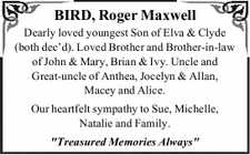 BIRD, Roger Maxwell