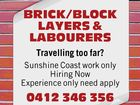 BRICK/BLOCK LAYERS & LABOURERS