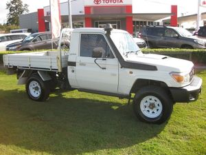 2012 Toyota Landcruiser VDJ79R 09 Upgrade Workmate (4x4) White 5 Speed Manual