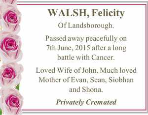 WALSH, Felicity
