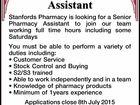 Senior Pharmacy Assistant