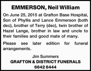 EMMERSON, Neil William