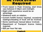 HC Truck Driver Required