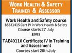 Work Health & Safety Training