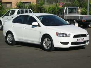 2011 Mitsubishi Lancer CJ MY11 SX White 6 Speed CVT Auto Sequential Sedan