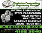 5991219aa FITTING & MACHINING STEEL FABRICATION WELD REPAIRS HARD FACING ABRASIVE BLASTING CRANE TRUCK HIRE