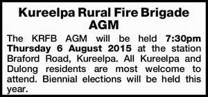 Kureelpa Rural Fire Brigade AGM