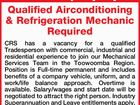 Qualified Airconditioning & Refrigeration Mechanic Required