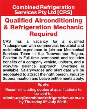 Combined Refrigeration Services Pty Ltd [CRS]