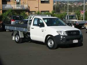 2011 Toyota Hilux TGN16R MY11 Upgrade Workmate White 4 Speed Automatic Cab Chassis