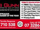 BG APN Clas Sept 14 PEST MANAGER OF THE YEAR AUSTRALIA 2014 AUSTRALIAN PEST MANAGER OF THE YEAR Emergency Termite Response 0428 710 538 Protect your home with the trusted name in termite control! PESTS RUN WHEN THEY SEE THE GUNN FREE Site Assessment Termite Inspections General Pest Control Pre-purchase ...
