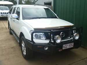 2013 Nissan Navara D40 ST-X 550 (4x4) White 7 Speed Auto Active Select Dual Cab