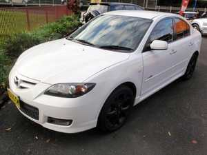 2007 Mazda 3 BK MY06 Upgrade SP23 White 6 Speed Manual Sedan