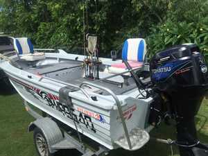 3.95 Shadow vision boat with 30hp 4 stroke Daihatsu motor