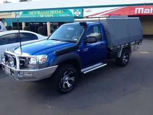 2010 Mazda BT-50 09 Upgrade Boss B3000 DX (4x4) Blue 5 Speed Manual Cab Chassis