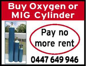 Buy Oxygen or MIG Cylinder