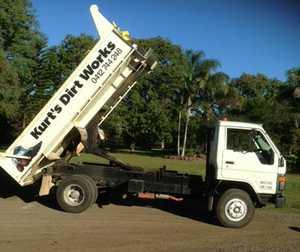 tip truck diesel, 3m back. Reliable little truck, registered $11000. Ph: 0408198977
