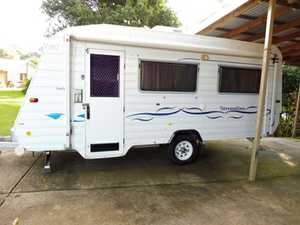 """17ft 6"""", insulated, twin beds, a/c, m/w, Wyneguard antenna, stereo, 3 way fridge, r/o awning, van in excellent condition. $19,000ono.   Ph: (07) 5499 9706"""