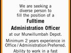 Fulltime Administration Officer