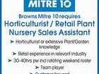 Horticulturist / Retail Plant Nursery Sales Assistant