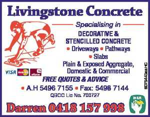 Specialising in DECORATIVE & STENCILLED CONCRETE