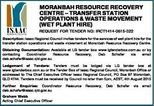 REQUEST FOR TENDER NO: IRCT1414-0615-022 