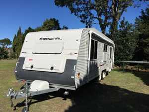 "New condition  Coromal 700  23"" caravan with triple bunks, toilet & shower  LCD TV/DVD  2x 120w solar panels  New A/C unit  LED lights  New awning  2x batt  Large fridge & outside table  $42,500 ONO  Ph: 0404034551"