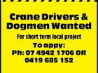 Crane Drivers & Dogmen Wanted