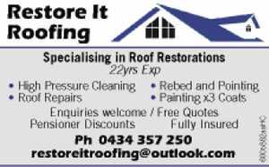 Specialising in Roof Restorations 