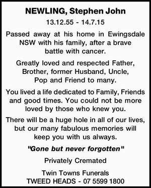 NEWLING, Stephen John