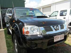 2009 Nissan Navara D22 MY2008 ST-R Black Manual Utility